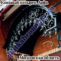 Кованый козырек Арфа