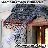 Кованый козырек Диадема