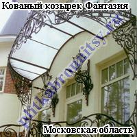 Кованый козырек Фантазия