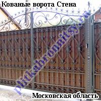 Кованые ворота Стена