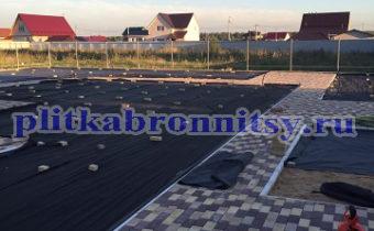 Пример укладки тротуарной плитки кирпич Раменское