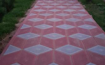 Укладка тротуарной плитки Ромб в Михеево