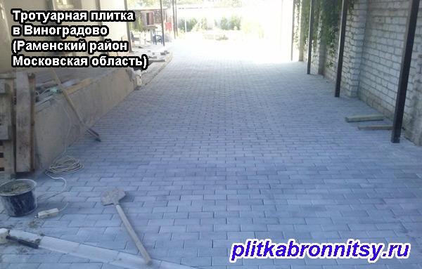 Укладка тротуарной плитки Виноградово
