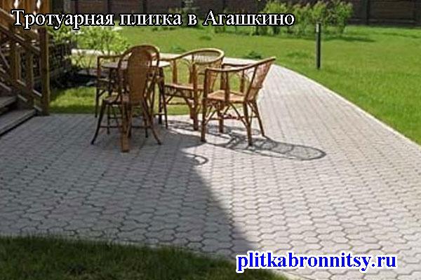 Тротуарная плитка соты: Агашкино, Раменский район, Московская область