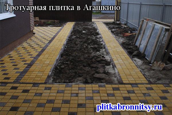 Тротуарная плитка Квадрат: Агашкино, Раменский район, Московская область
