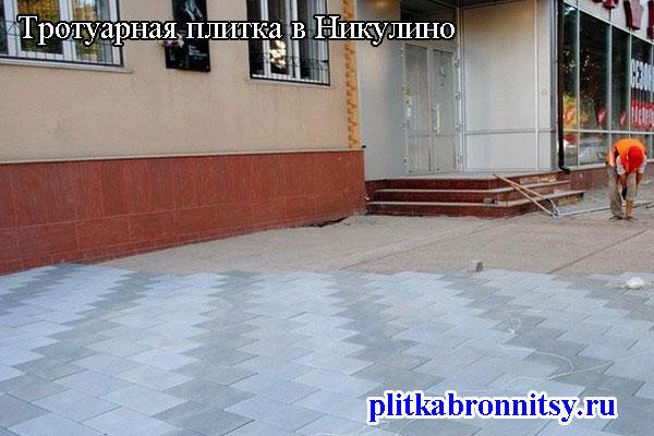 Тротуарная плитка в Никулино: Раменский район Московская область
