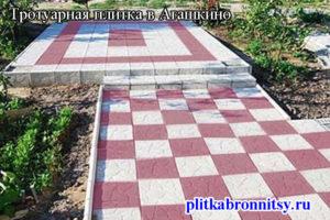 Пример укладки тротуарной плитки Тучка в деревне Агашкино Раменского района Московской области