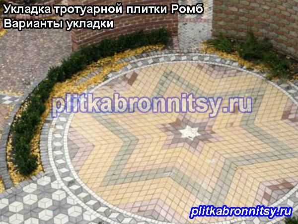 Укладка тротуарной плитки в Аксёново: примеры укладки тротуарной плитки Ромб