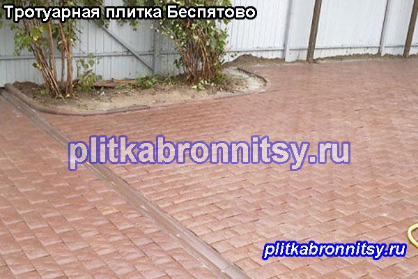 Пример укладки брусчатки на даче в Беспятово (Раменский район, Московская область)