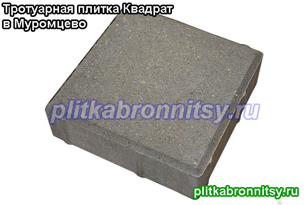 Тротуарная плитка Квадрат в Муромцево