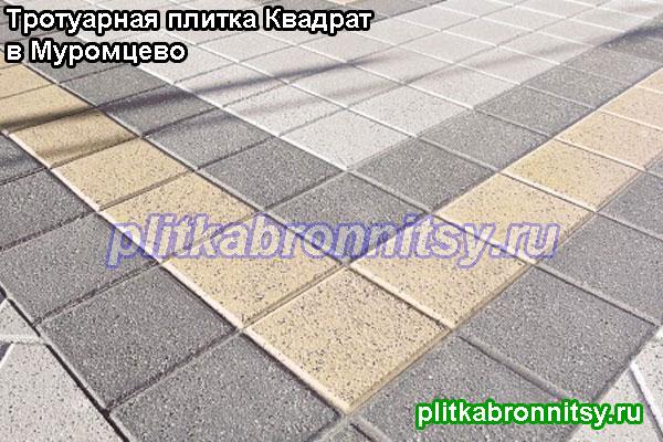 Простая схема укладки плитки Квадрат большой трёх цветов