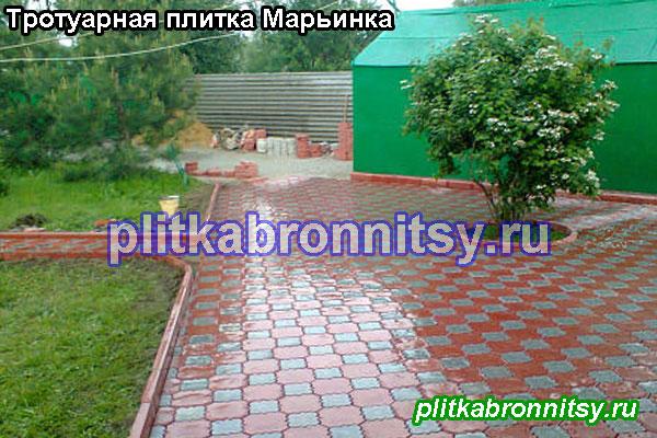 Пример укладки тротуарной плитки клевер краковский на даче в Раменском районе