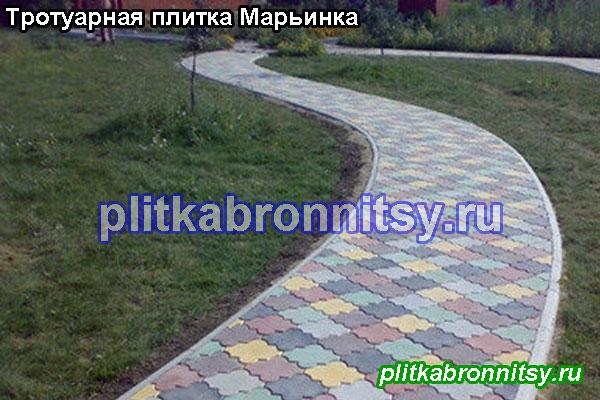 Укладка тротуарной плитки Клевер Краковский в дачном посёлке Марьинка Раменского района