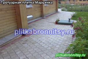 Фото примеры наших работ по укладке тротуарной плитки Клевер Краковский в Раменском районе и в Бронницах