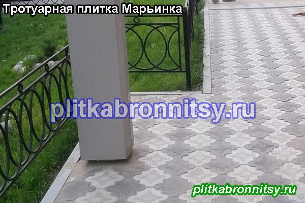 Укладка тротуарной плитки Клевер Краковский в Марьинке (серый, двух оттенков)