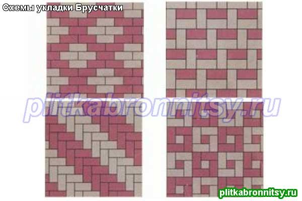 Схемы для укладки двухцветной плитки