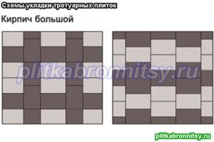 Укладка тротуарной плитки: схема Кирпич Большой