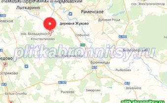 Деревня Жуково Раменский район: укладка брусчатки